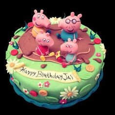 Peppa pig birthday cake #foodie