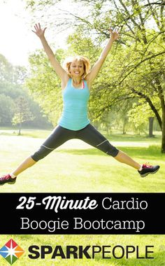 Get your heart pumping with this no-equipment routine. Only 25 minutes, too--great for those crazy-busy days! | via @SparkPeople #workout #fitness #exercise #homeworkout