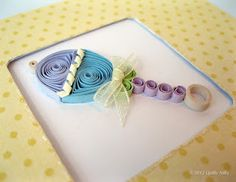 quilling - baby rattle