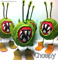 How to make a Chompy for Skylanders Party (Tutorial) pluck daisi, birthday parti, giant parti, chompi, parties, skyland parti, skyland birthday, skylanders party, parti idea