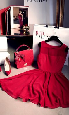 For the Love of Valentino Red. xx Dressed to Death xx #dress #shoes #handbag #accessories #photography #fashion #style #inspiration #art