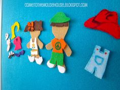 To make to the felt boards (felt board people templates)