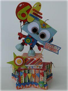 Birthday Robot Centerpiece | Jennifer Beason
