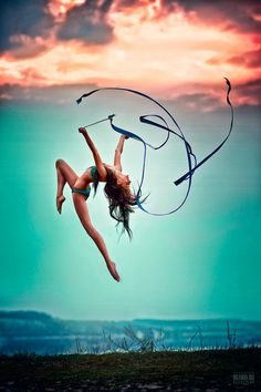 clouds, dance photography, stunning photography, heart, sky, colors, bikinis, ribbons, beauty