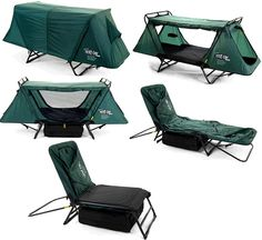 A camping chair/bed.