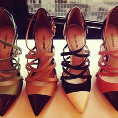 #PourLaVictoire strappy pointed toe pumps -- Taken with #Snapette