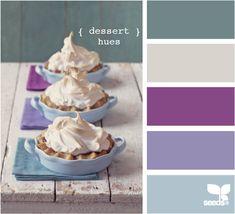 teal, purples — dessert hues