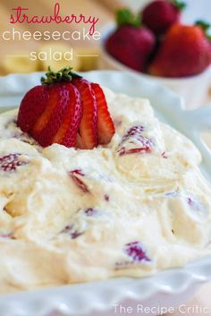 Strawberry Cheesecake Salad - The BEST salad to bring to any potluck!