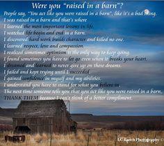 Growing up a farm kid :)