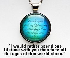 True Love Blue Lord of the Rings Necklace. $14.00, via Etsy.