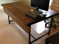 Easy to Build Barn Wood Desk #deskweek #KeeKlamp