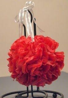 Paper ball flowers