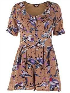 dress collection, print playsuit, playsuits, dresses, east, bird dress, pigeon print, 2dayslook playsuit, prints