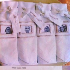 Use friend's pics to make custom napkins for a dinner party!