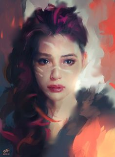 Recently, I have been painting a lot of digital portraits of women. Do you enjoy that style? - Imgur