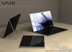 The Vaio Zoom notebook computer uses holographic technology to create a PC that may be more minimalist than a MacBook Air. When off, the screen is completely transparent and the keyboard goes opaque. Turn it on and the touchscreen holographic festivities begin. Even the mouse buttons are holographic.