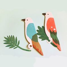 Bird & Leaf Cards by TableOffice