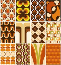 orang, color schemes, vintage, colors, wallpaper designs, retro design, living room walls, print, wallpaper patterns