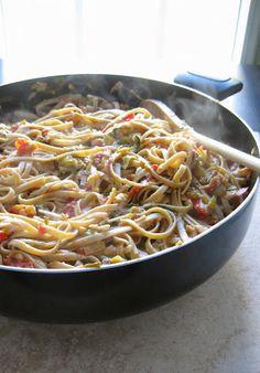 Healthy Pasta a la Vodka with Zucchini and Greek Yogurt