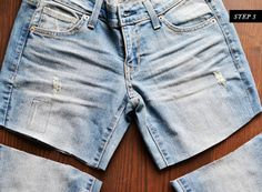 DIY denim shorts