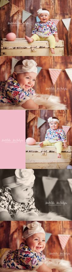 baby photography | www.facebook.com/matildamcintyrephotography | www.matildamcintyrephotography.com  easter session, spring mini sessions, shabby chic, preschool portraits, cute props, bunny photo session, DIY flag banner