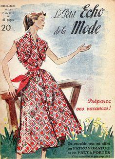 the 1950s-1953 Le Petit Echo de la Mode cover by april-mo, via Flickr