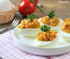 Huevos rellenos al curry - L´Exquisit