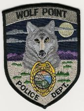WOLF POINT MONTANA POLICE PATCH