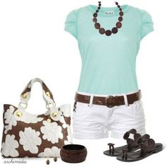cute summer outfits   Summer Dresses 2012   Aqua and Chocolate   Fashionista Trends
