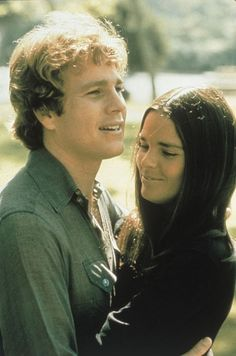 Ryan O'Neal and Ali MacGraw in 'Love Story', 1970.