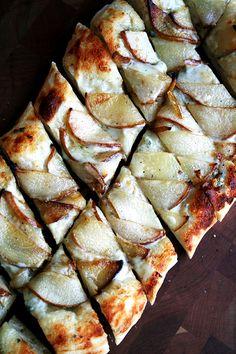 Alsatian Flatbreadwith Pears & Gorgonzola