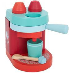 Wooden cappuccino maker toy - just like mommy's. How great is that!