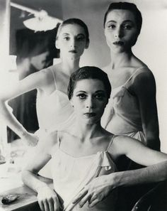 Ballerinas at the New York City Ballet (Diana Adams; Maria Tallchief; Tanaquil Leclercq) by Norman Parkinson
