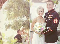 outside military wedding