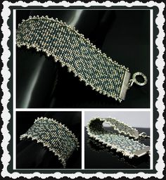 Bead loomed vintage inspired cuff