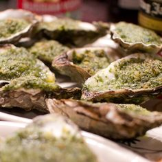 Oysters Rockefeller     are an excellent start to the dinner