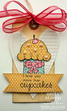 {more than CUPCAKES} stamp of the week from unity stamp company - card created by Unity Design Team Member Shellye McDaniels