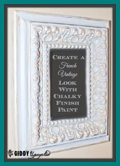 How To Create A Vintage Distressed Look with Americana Chalky Finish Paint - by GiddyUpcycled.com   #chalkyfinish #decoartprojects @decoart @michaelsstores @homedepot @hobbylobby