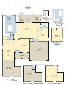 Copperleaf palm city florida by pulte homes on pinterest floor plans florida and media rooms Kitchen upstairs house design