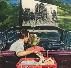 """""""date night"""" at the Drive-in. Roger Wilkerson, The Suburban Legend"""