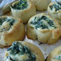 Spinach Pinwheels Allrecipes.com