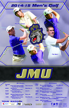 The 2014-2015 JMU men's golf schedule poster is here! Click to download full version.
