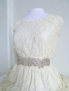 FAWN  Bridal Crystal Sash crystal Belt rhinestone by LiveAdorned, $168.00