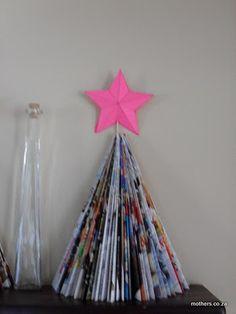christmas tree from magazine.  great cheap decorating idea!