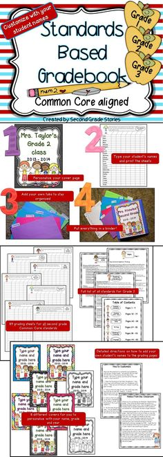 $ - an easy way to keep track of how your students are doing on Common Core Standards - editable!