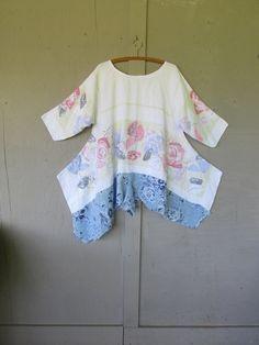 linen French shabby tunic dress/Artsy by lillienoradrygoods, $99.50
