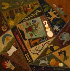 Wool Crazy by JoAnn Mullaly from Primitive Gatherings Quilt Shop blog- I want this book!
