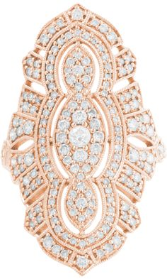 Stone Diamond & Pink Gold Tess Ring - $6,360