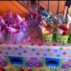 Tutu-go buckets for Abby Cadabby themed birthday party