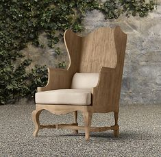 outdoor wingback chair.